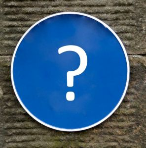 Blue plaque question mark